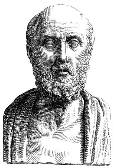 popiersie Hipokratesa