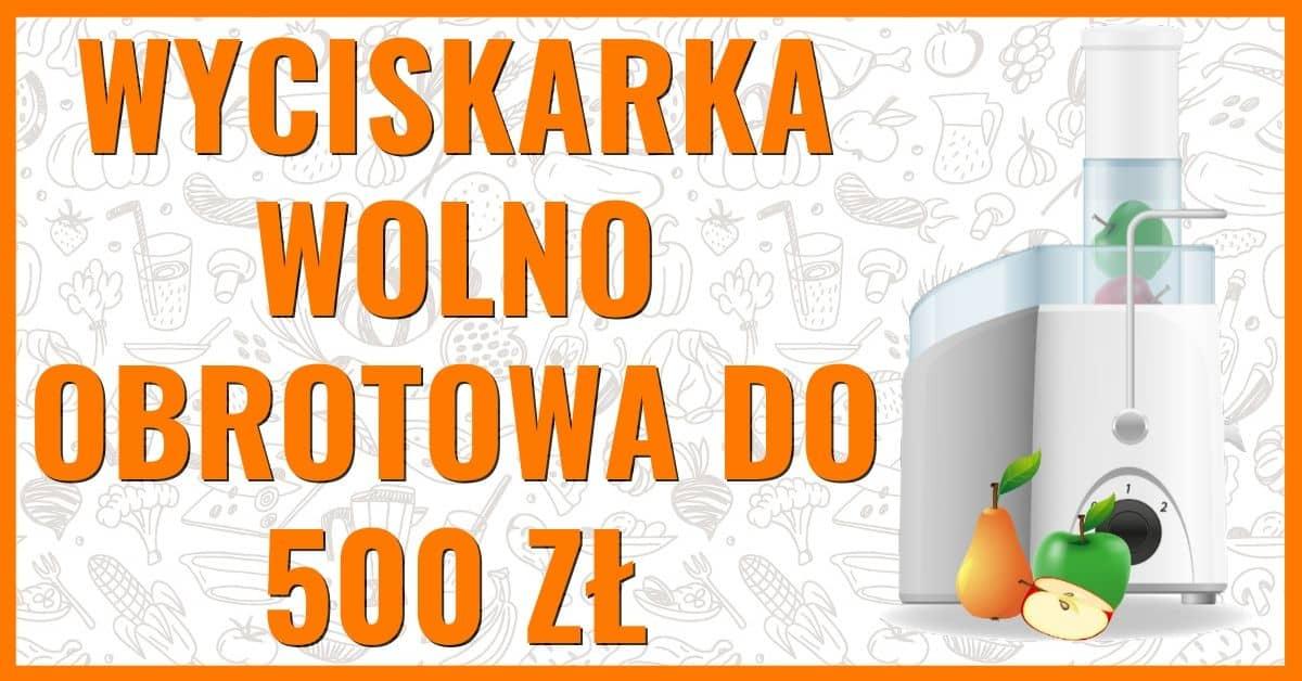 wyciskarka wolnoobrotowa ranking do 500 zł