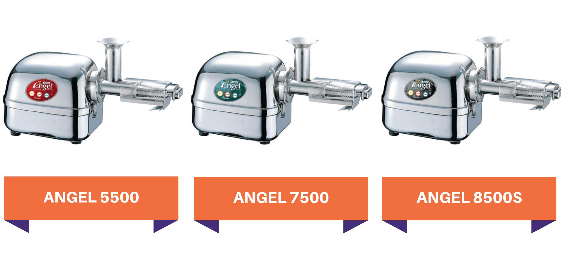 Porównanie wyciskarek Angel-5500-7500-8500S
