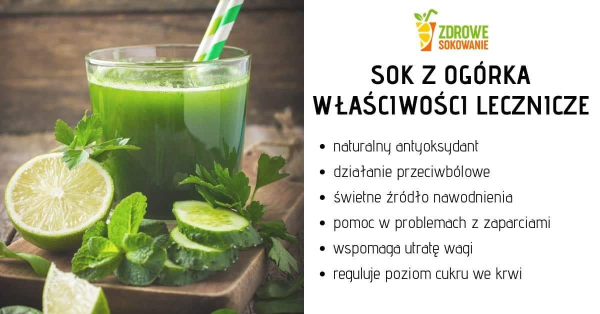 właściwości lecznicze soku z zielonych ogórków