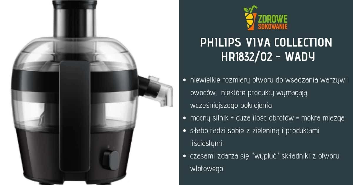 wady sokowirówki philips hr1832-02