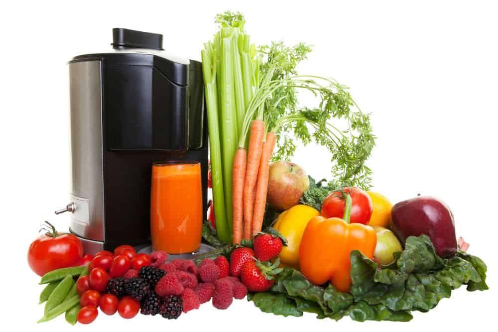 warzywa i owoce do wyciskania soku z wyciskarki wolnoobrotowej